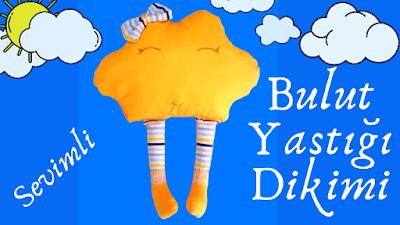 Kumaştan bebek bulut yastığı dikimi