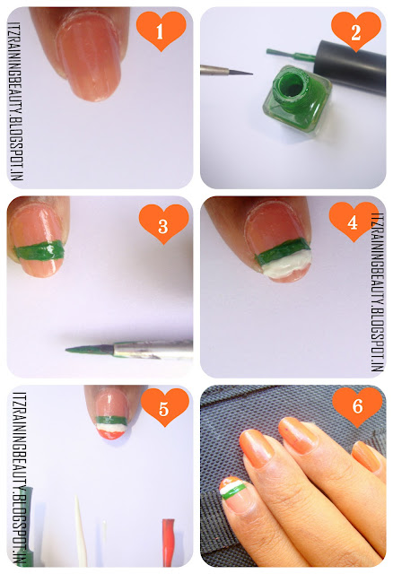 indian flag step by step nailart  2  jpgSimple Nail Art Step By Step
