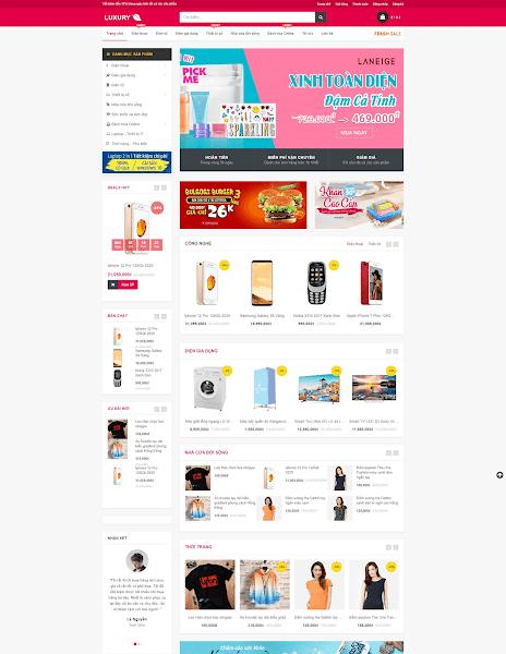 Giao diện blogger bán hàng tiếp thị liên kết