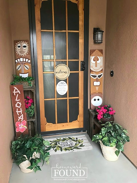 art class, beach style, DIY, diy decorating, junk makeover, just for fun, neutrals, on the porch, outdoors, painting, re-purposing, salvaged, summer, tiki style, trash to treasure, wall art, tropical style, woodcrafts