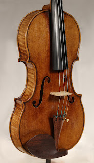 Copy of a Guarneri del Gesù Violin top plate by Nicolas Bonet Luthier - Table d'un violon en copie de Guarneri del Gesù par Nicolas Bonet Luthier