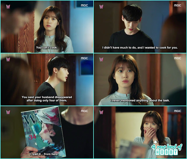 yeon jo thought kang chul memories came back so thats why he is doing the task  - W - Episode 11 Review