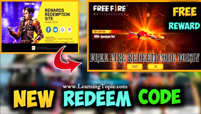 Free Fire Redeem Code Today || Latest Free Fire Mobile Rewards