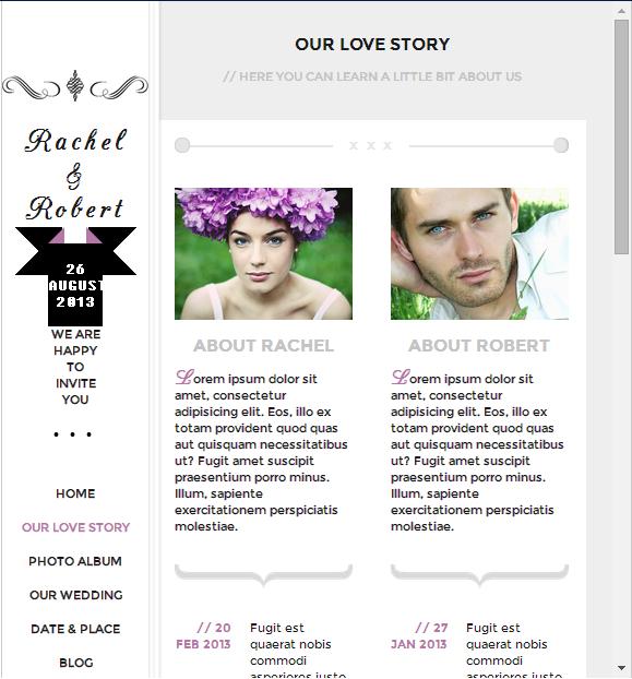 Contoh download Theme Undangan Pernikahan Online WordPress Terbaru