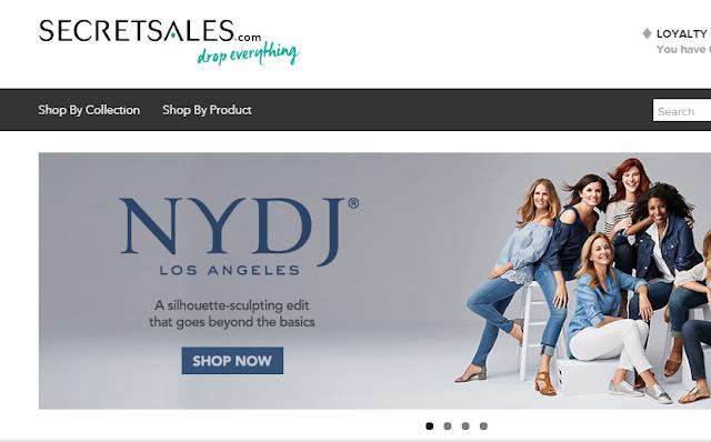 Giao diện web bán hàng giảm giá The Secret Sales