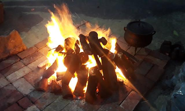 Bonfire and potjie at the De Hoop Nature Reserve