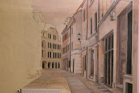 Malowanie uliczki w perspektywie, malarstwo ścienne, Gdańsk