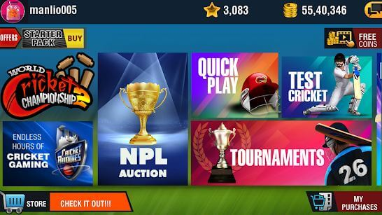 World Cricket Championship 2 MOD APK for Android