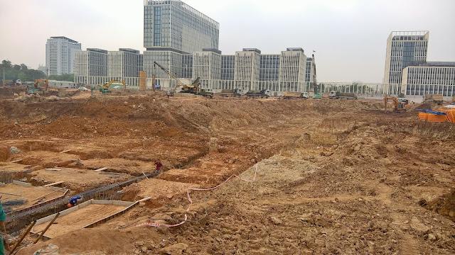 Công trường thi công chung cư An Bình City