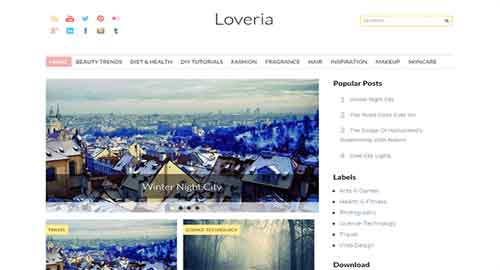 Loveria Blogger Template