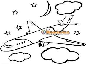 Gambar Mewarnai Kendaraan Udara Simpel dan Mudah Dibuat
