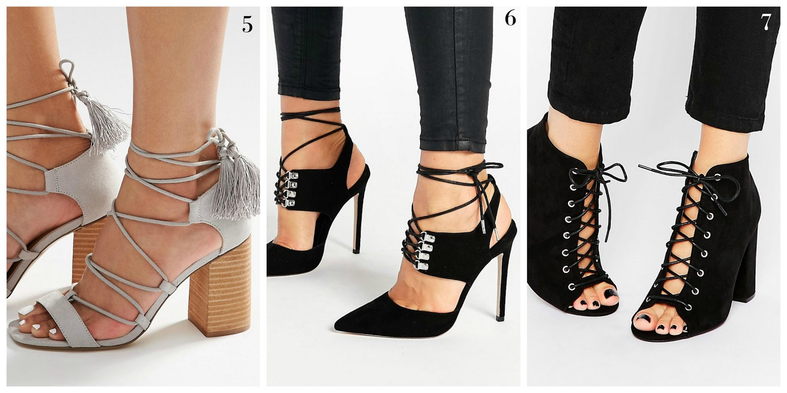 NEXT Stone Grey Lace Up Sandals | Caged Heel Wishlist! | Emma Louise