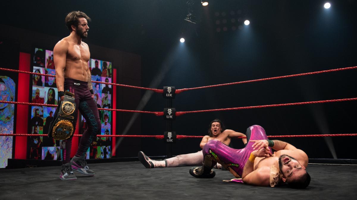 Kenny Williams, Amir Jordan, and Sam Stokely on WWE NXT UK