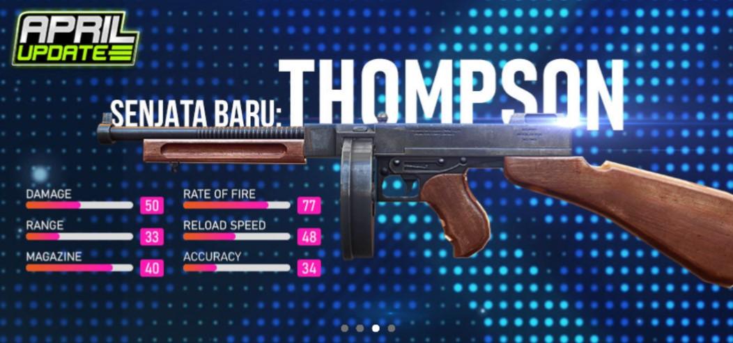 Statistik Senjata Thompson Smg Vs Mp40 Smg Free Fire Retuwit