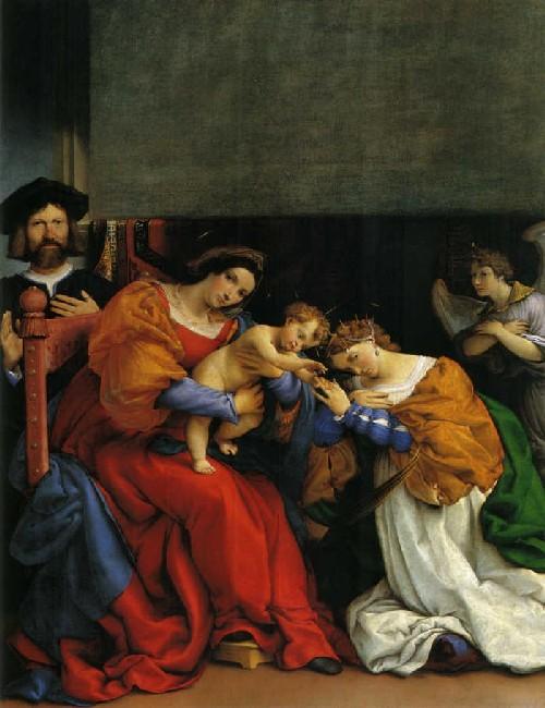lorenzo lotto matrimonio santa caterina d'alessandria