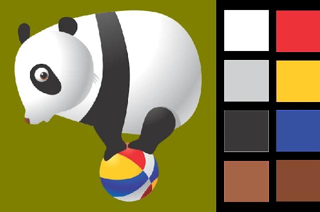 Gambar Mewarnai Hewan Panda