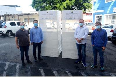 Saúde de Registro-SP recebe doação de duas cabines de testagem para Covid-19 do Complexo Juquiá