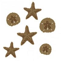 Creative Embellishments Starfish and Sand Dollars