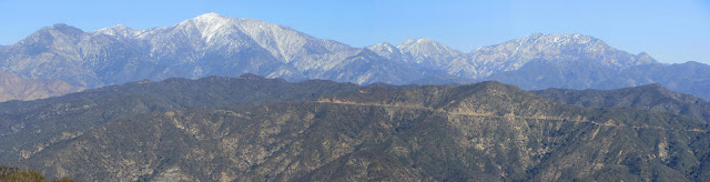 View northeast toward Mt. Baldy and surrounding high country
