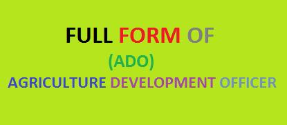 full form of ado