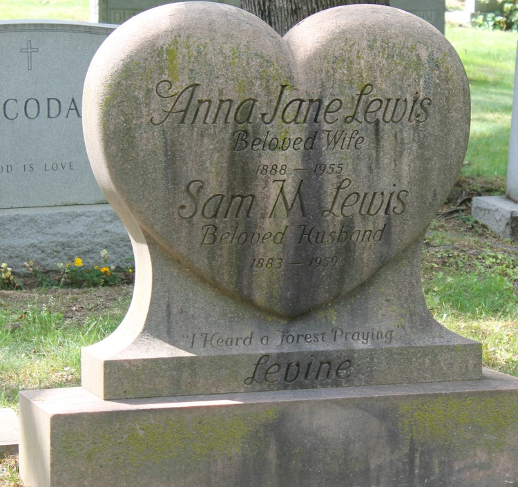 A Vintage Nerd Woodlawn Cemetery Mary Pickford Burial Vintage Blog Where Old Hollywood Stars are Buried Sam M. Lewis Grave