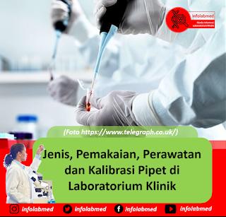 Jenis, Pemakaian, Perawatan dan Kalibrasi Pipet di Laboratorium Klinik