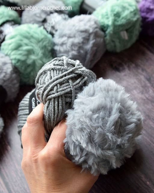Scheepjes Chunky Monkey and Furry Tales yarns for the best match