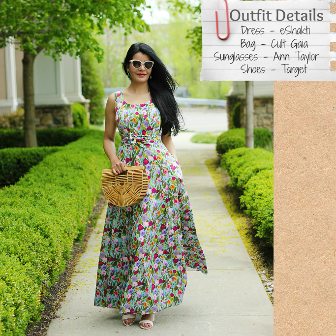 df3716b7df7 Style-Delights  Lookbook  Floral Summer Maxi Dress   eShakti Review