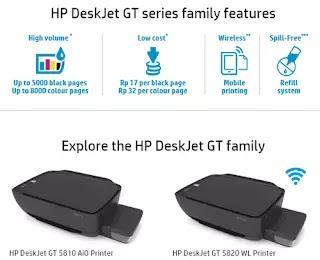 HP DeskJet GT Series Family Features