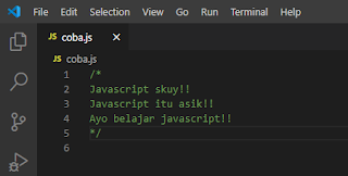 Javascript Dasar : Komentar Banyak Baris  (Multi-line Comment (/*....*/)) - JS0002