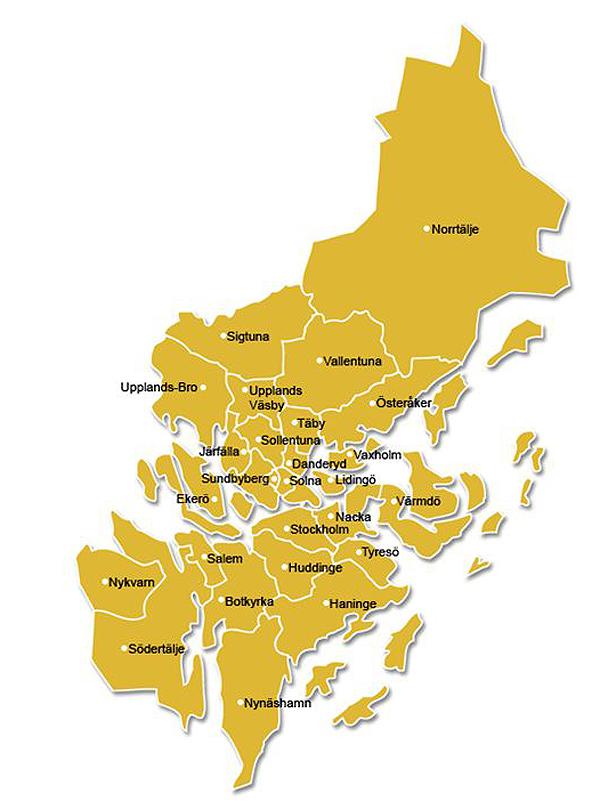 stockholms län karta Stadsutvecklingen: Stockholms län i siffror stockholms län karta