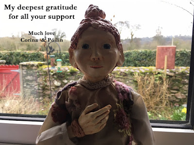Póilin puppet says Thank You Corina Duyn to Nottingham Puppet Festival