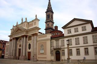 Piazza del Duomo in Alessandria, the city in Piedmont where Giovanni Migliara was born in 1785