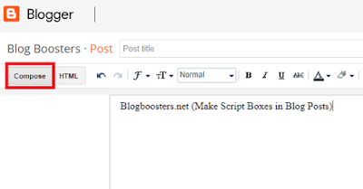 Make Script Boxes in Blog Posts