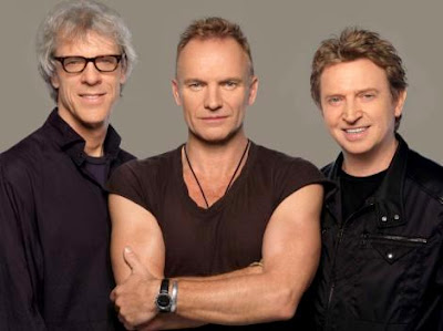 Foto de Sting con sus amigos de The Police