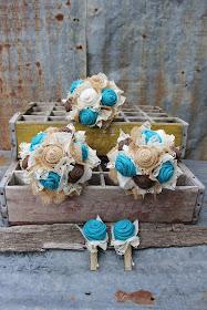 rustic turquoise wedding flowers