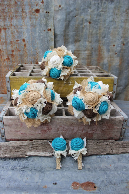 rustic turquoise wedding flowers