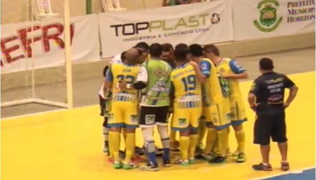 Horizonte Futsal perde e terá que fazer nova virada para ir a final da Copa do Brasil.