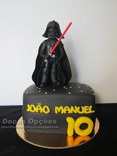 O Darth Vader foi ao 10º aniversário do João Manuel