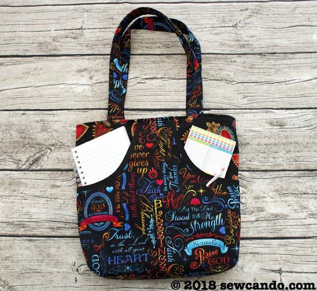 Free sewing pattern: Peeking Pocket Tote Bag