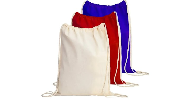 TBF Cotton Drawstring Backpack for Men and Women