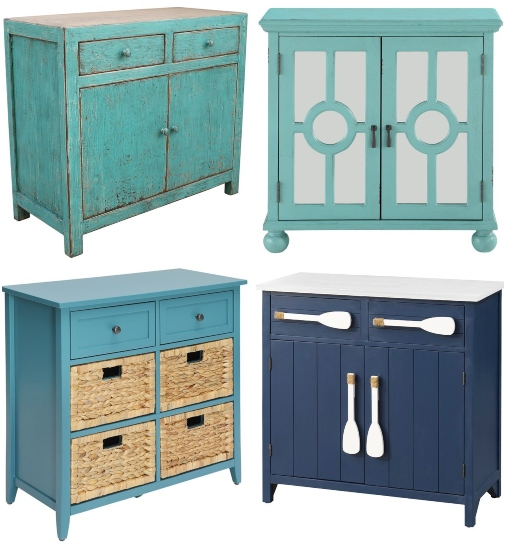 Blue Coastal Chests and Cabinets