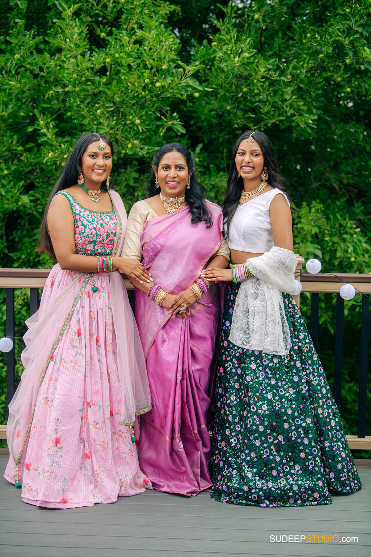 Indian Family Portrait Photography in Traditional Outfits by Ann Arbor Novi Family Portrait Photographer