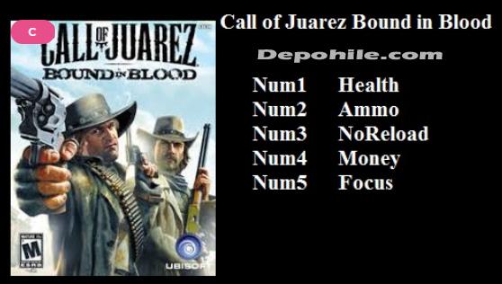 Call Of Juarez Bound In Blood Can, Para +5 Trainer Hilesi İndir