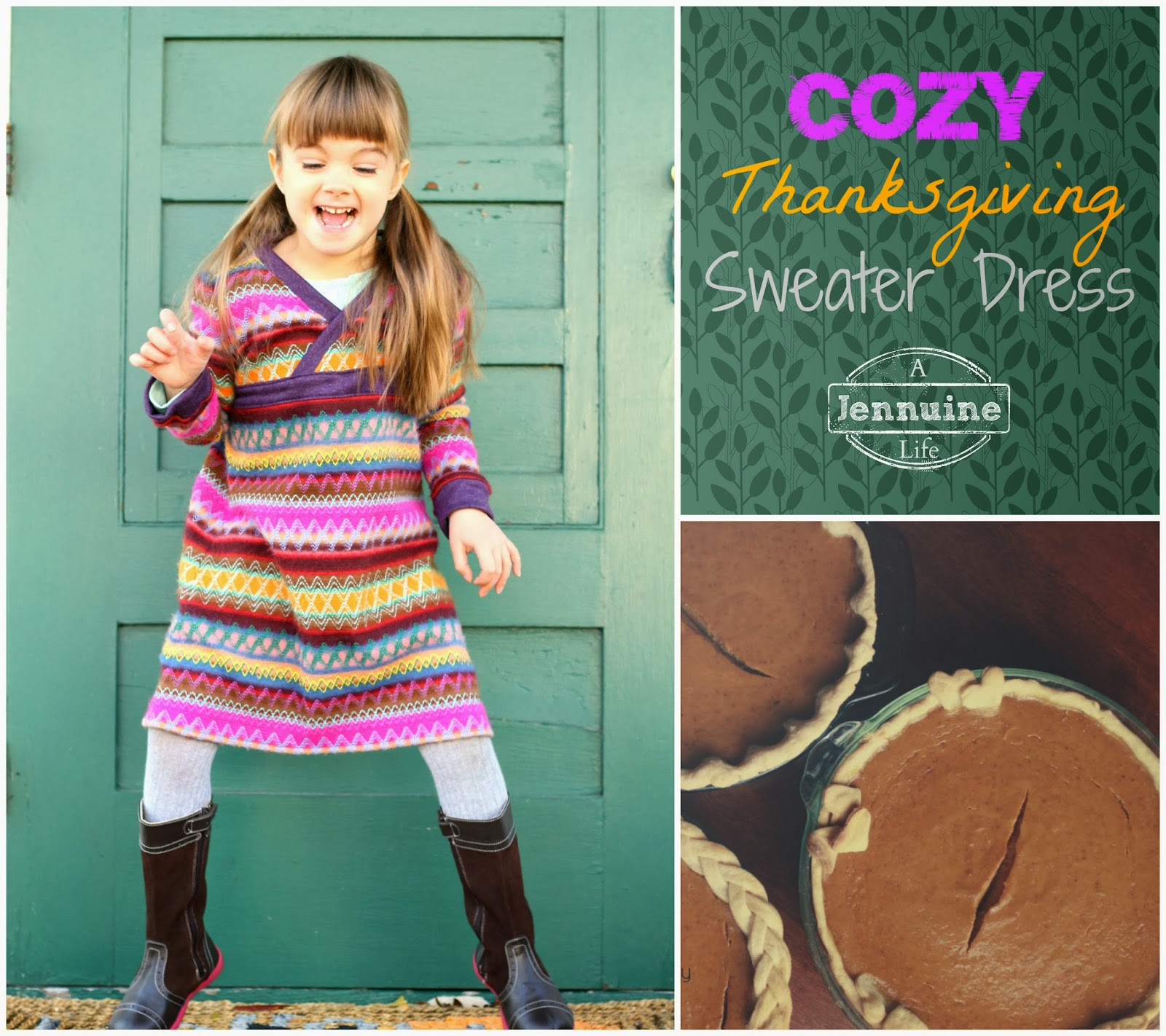 205ab031ffa Thanksgiving Sweater Dress  The Handcrafted Holidays ...