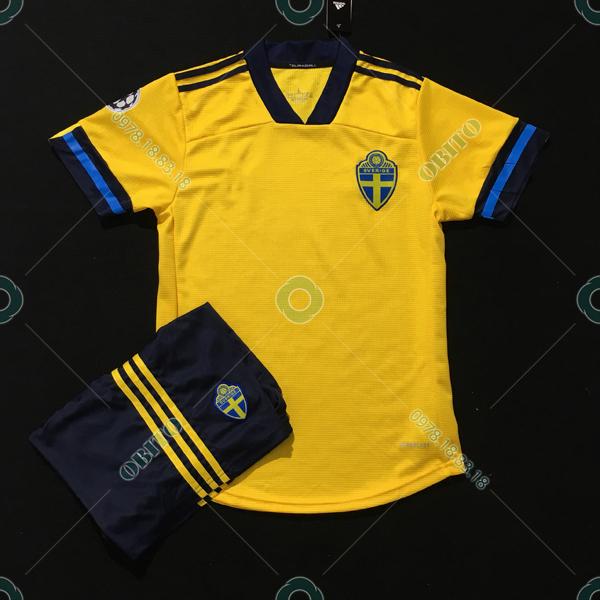Trọn Bộ Áo Bóng Đá Đẹp Đội Tuyển Thụy Điển 2020