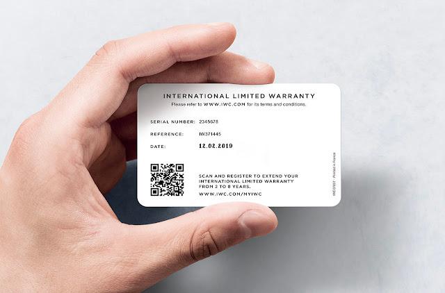 IWC new international limited warranty