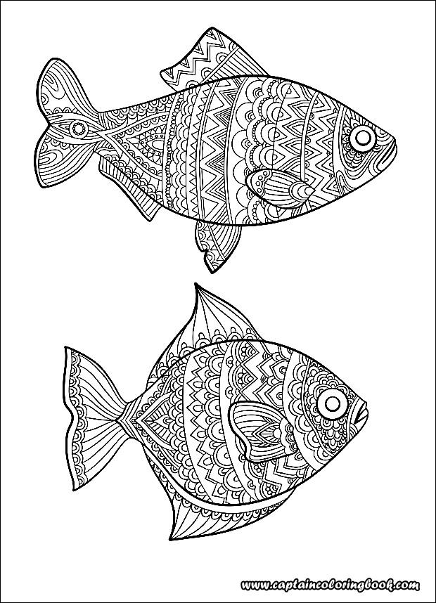 fisch malvorlagen mode zeichnung ozean tiere  free mandala