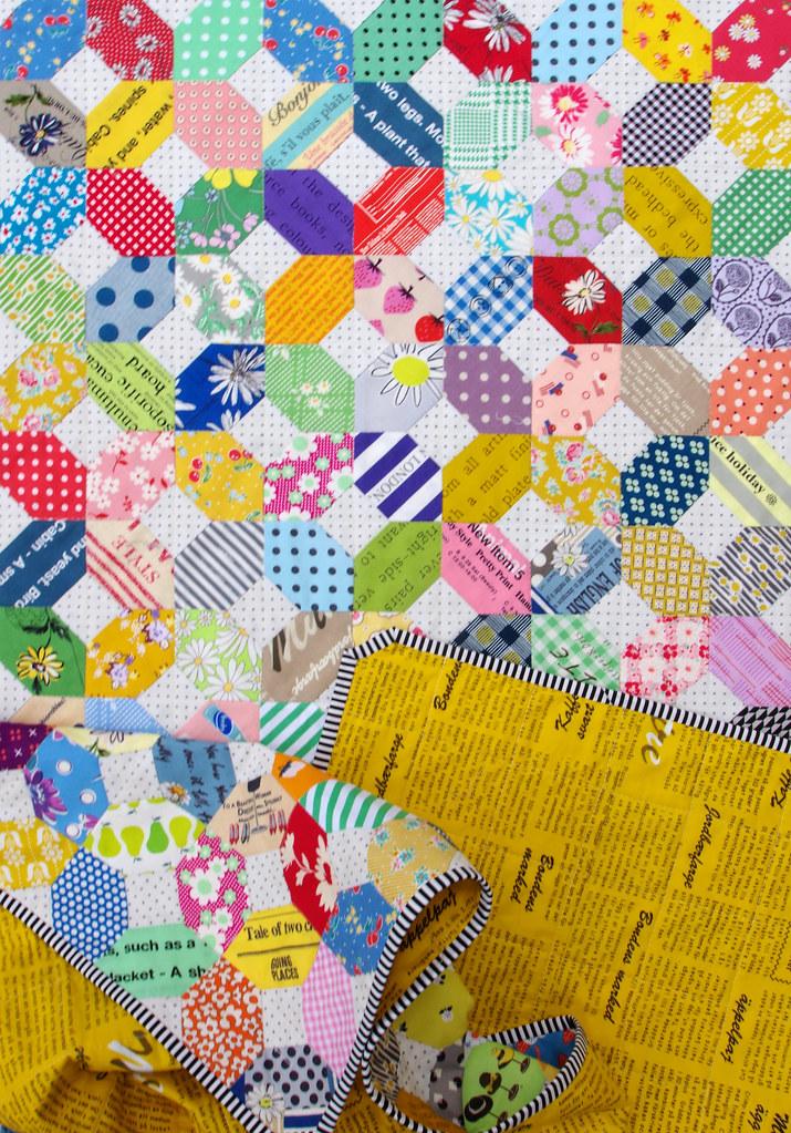 Hand Pieced Kansas Dugout Quilt - Japanese Fabrics | © Red Pepper Quilts 2020