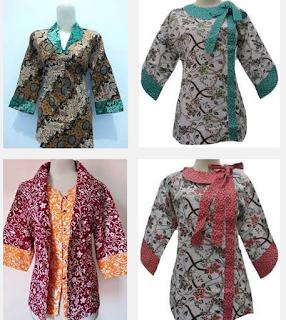 model baju batik kantor atasan